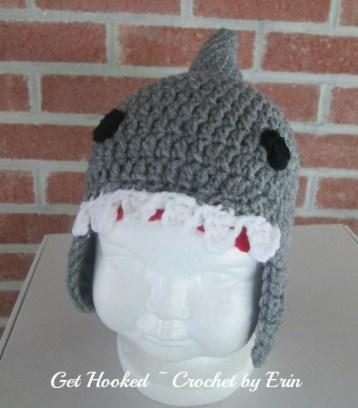 Shark hat 9-12 mo