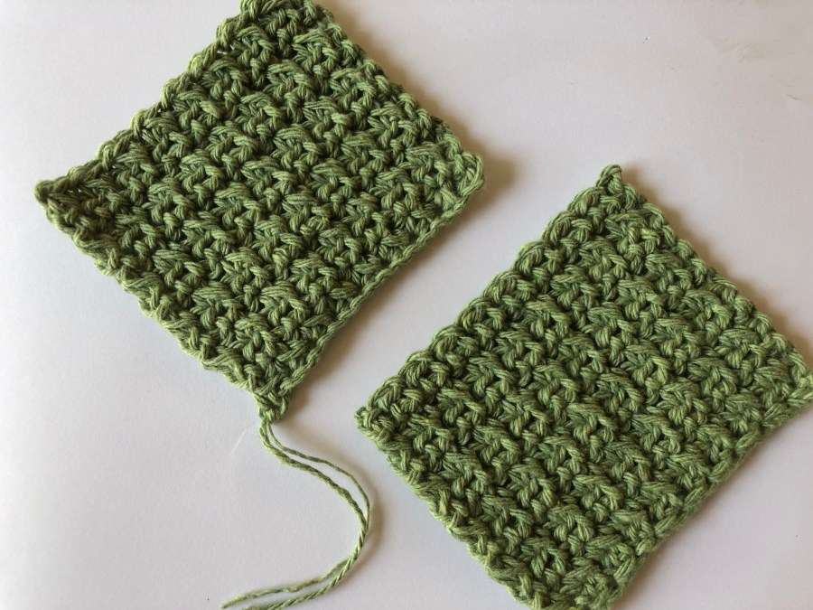 squished single crochet stitch