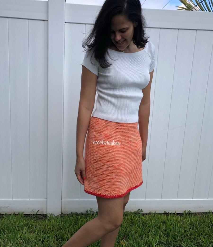 crochet a-line skirt