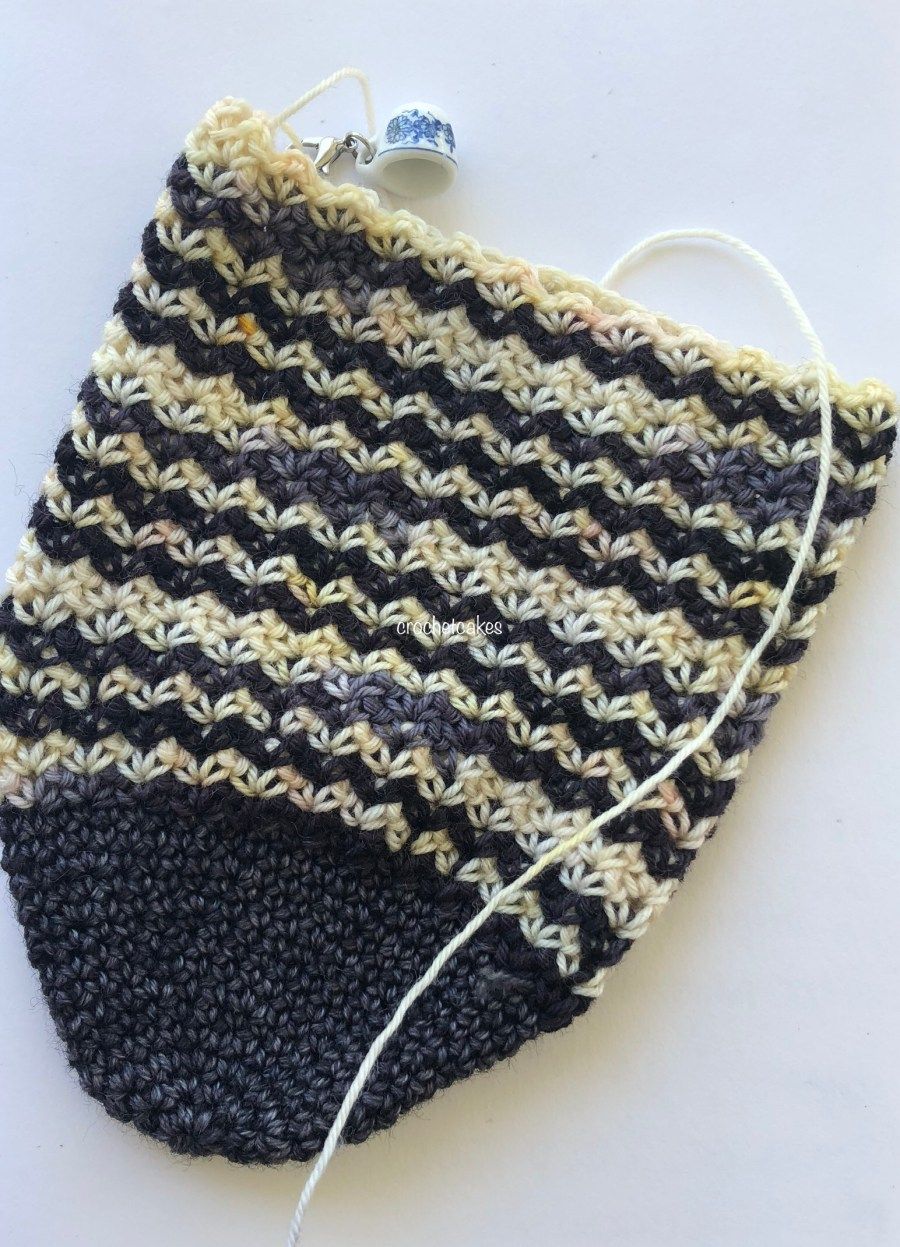 self striping crochet sock
