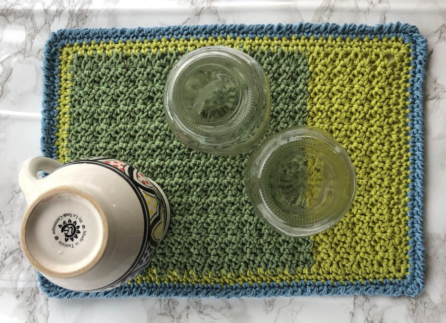 crochet drying mat