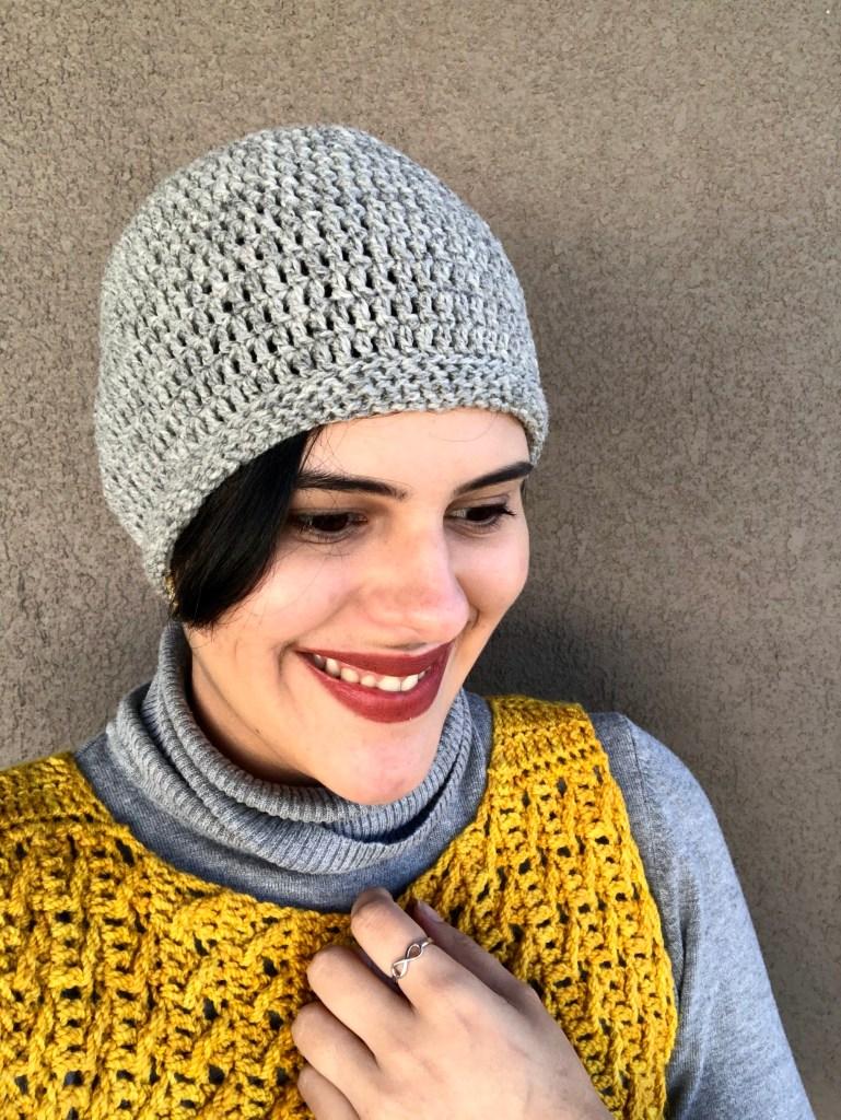 gorro tejido en lana fingering