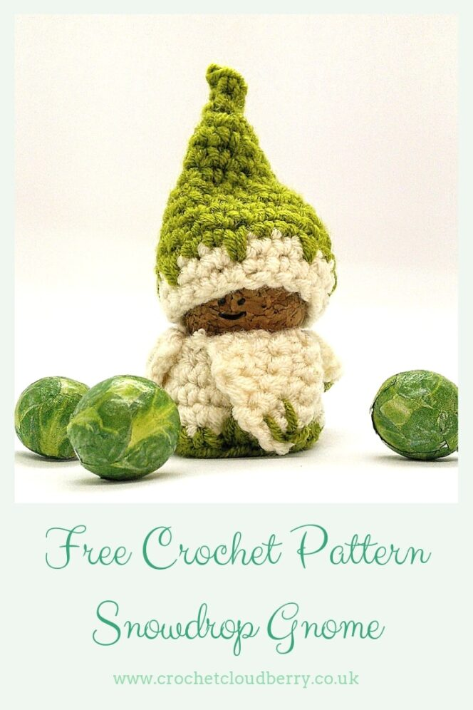 Free crochet gnome patterns - snowdrop gnome by crochet cloudberry