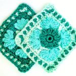 Free crochet patterns - Ice Flower Granny Square