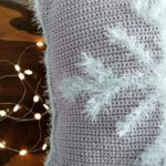 Fluffy Snowflake Cushion Cover - Crochet Pattern - Crochet Cloudberry