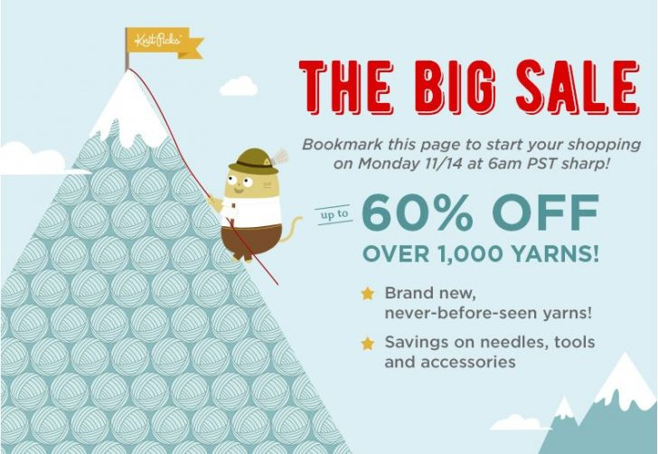 The BIG sale is happening this week at Knit Picks!