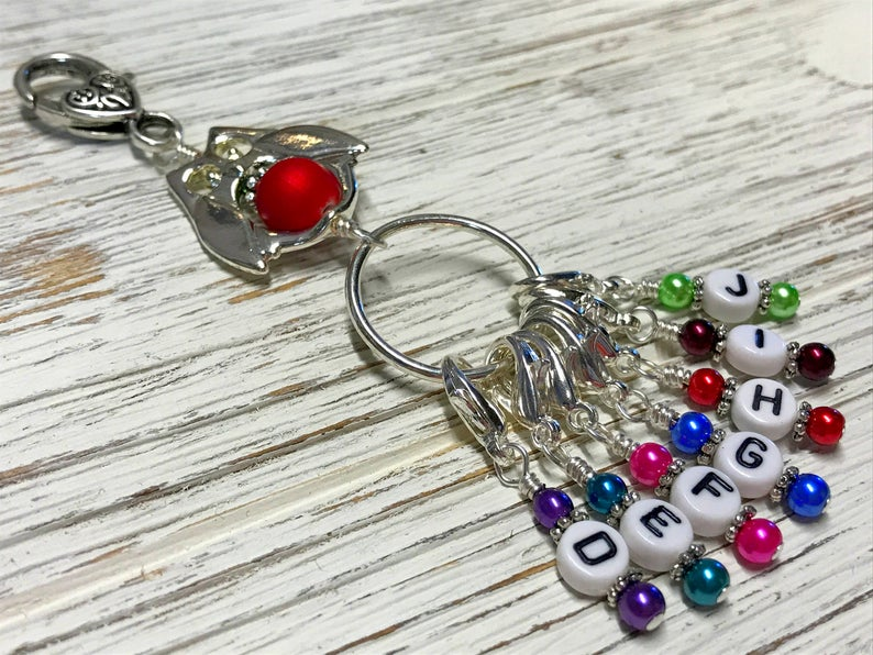 Crochet Hook Letter Stitch Marker Set