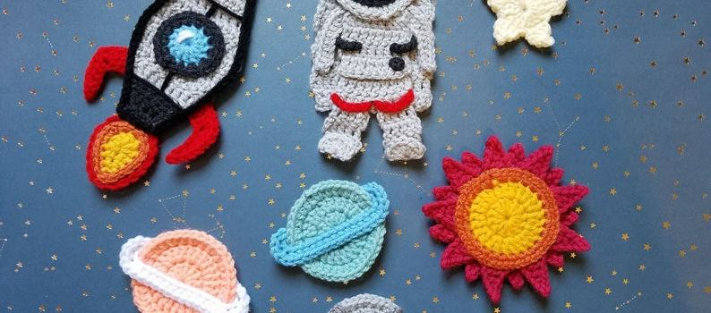 Space Odyssey Applique Pack by The Yarn Conspiracy