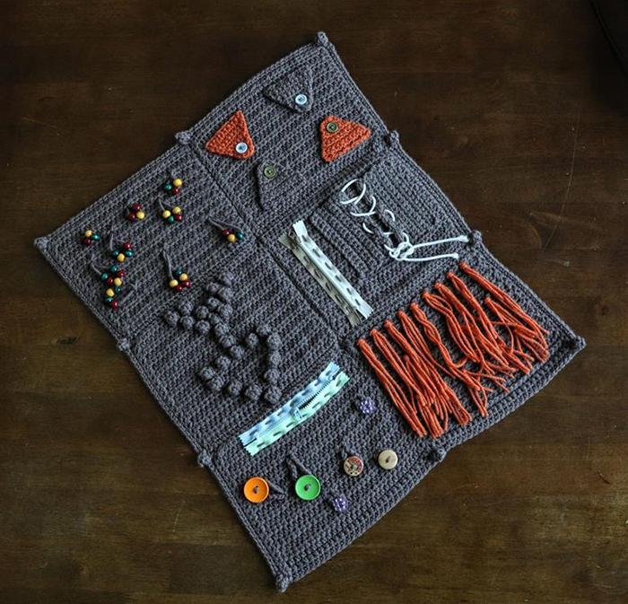 Crochet Fidget Blanket Pattern