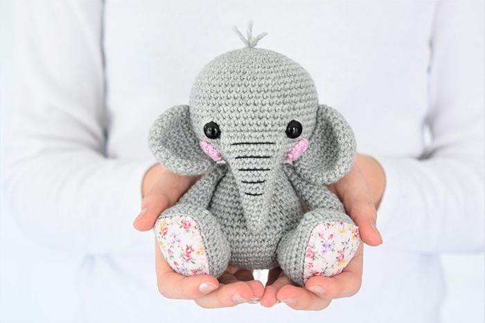 Lucy the Elephant Amigurumi Crochet Pattern