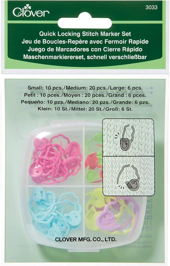 Quick Locking Stitch Marker Set from Clover