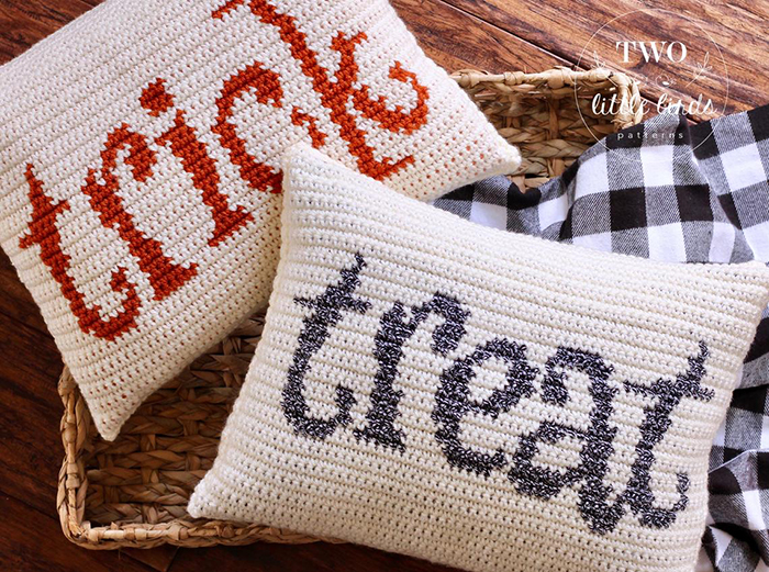 Trick and Treat Crochet Pillows