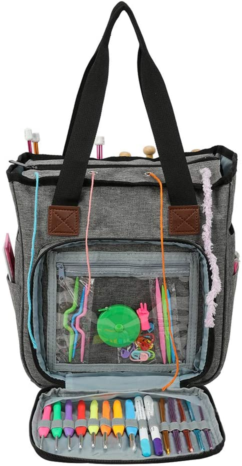 Knitting Bag with Shoulder Straps