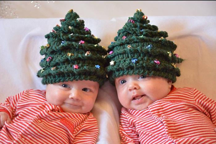 Christmas Tree Crochet Hat