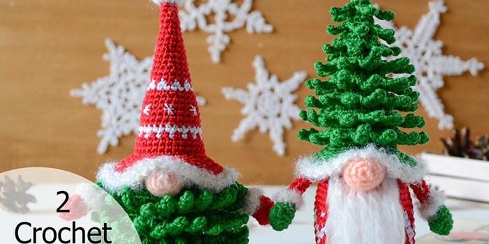 Christmas Tree Gnomes Crochet Pattern