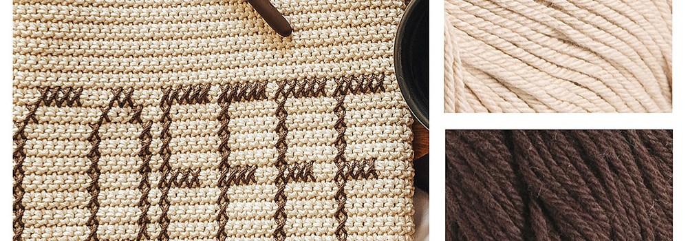 Coffee Dish Towel Pattern Kit by Katlyn Charlton