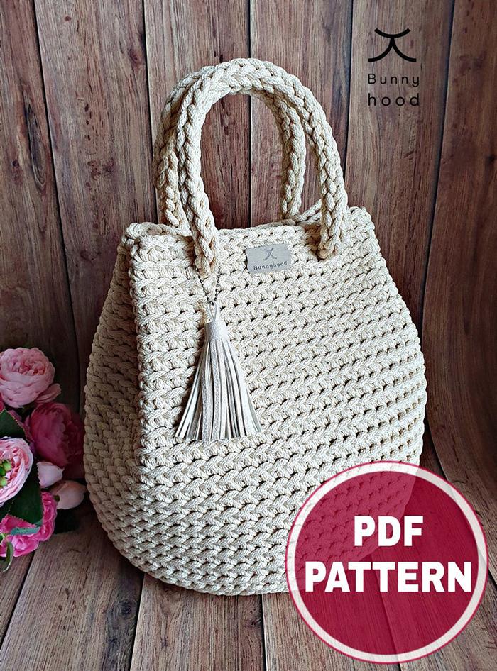 Dew Drop Crochet Handbag