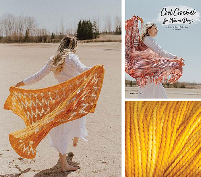 Cool Crochet Kit Golden Leaves Wrap