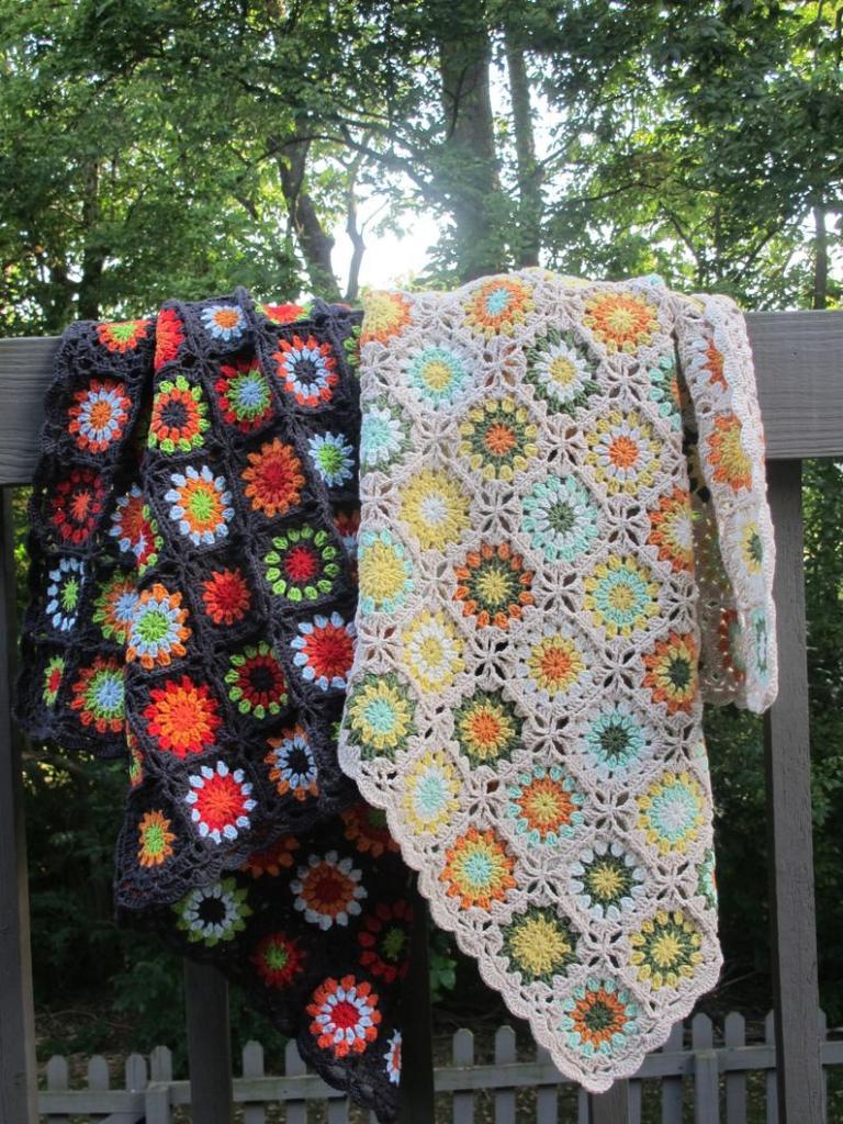 Garden Mums Blanket