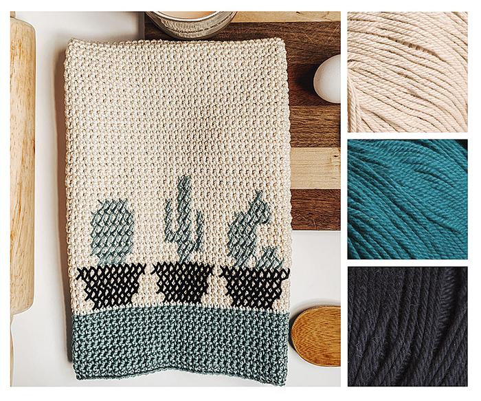 Cactus Dish Towel Pattern Kit