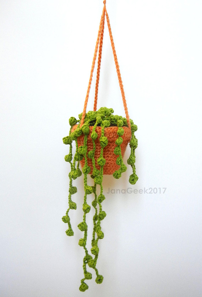String Pearls Succulent Plant Crochet