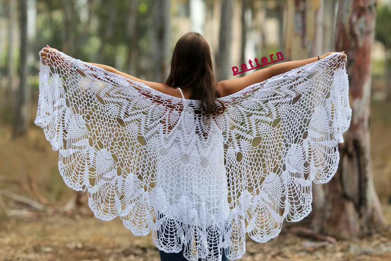 Wedding Shawl Crochet Pattern