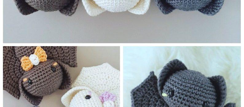 Halloween Amigurumi Bat Crochet Pattern by SassarooDesigns
