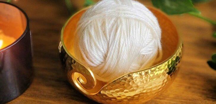 Stunning Metal Yarn Bowls from Furls Fiberarts