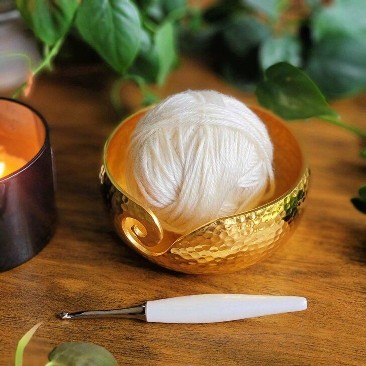Furls Gold Yarn Bowl