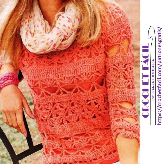 debdc2f51 Blusa en crochet patrones – Patrones de crochet