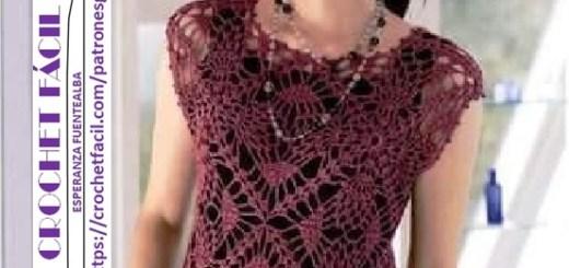 034ee9c16 Blusa Calada Tejida A Crochet Patrones Todo Crochet - Classycloud.co