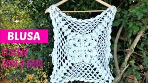 Blusa crochet grany square