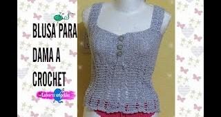 Blusa para dama crochet