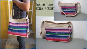 Bolso crochet multicolor