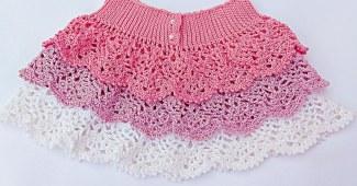 Falda crochet niña