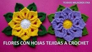 Flores Tejidas a Crochet