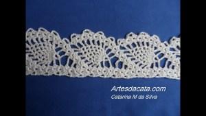 Puntilla crochet piña