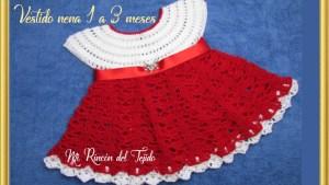 Vestido de nena en crochet