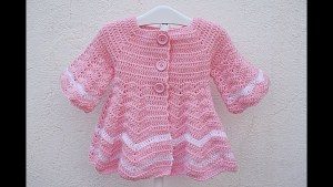 Abrigo crochet niña