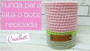 Funda para lata crochet
