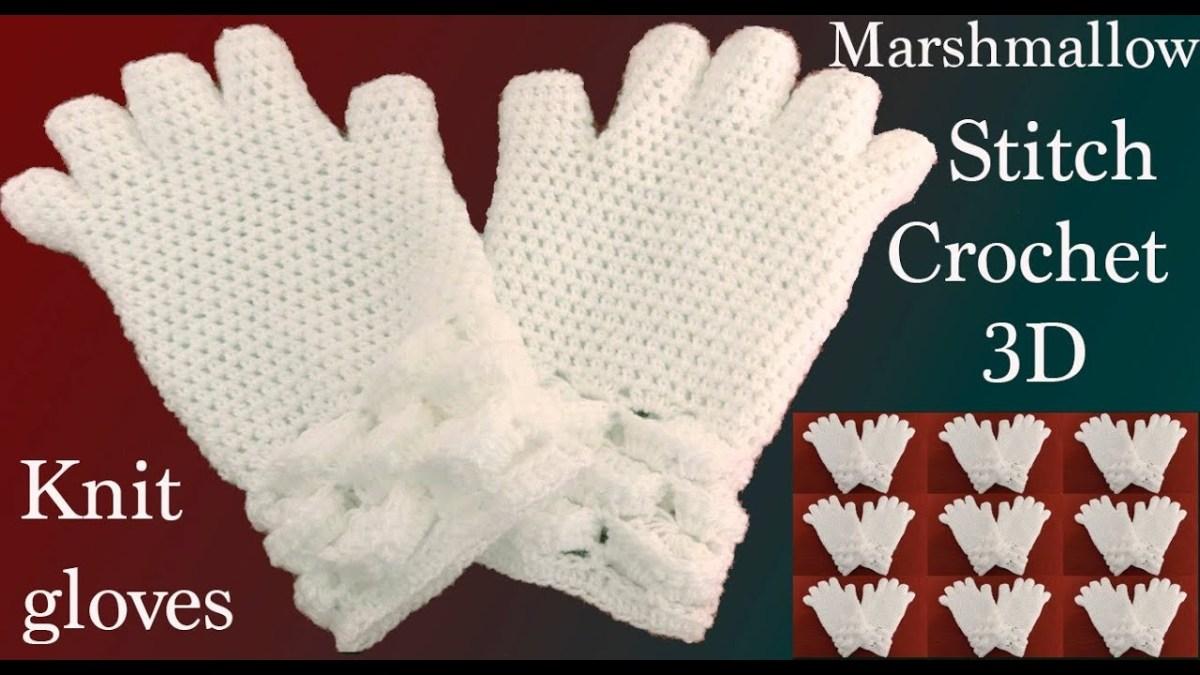 Guantes a Crochet punto marshmallow | Crochet Full 🍁