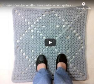 como hacer alfombras cuadrada