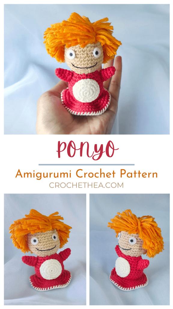 amigurumi ponyo crochet pattern pinterest