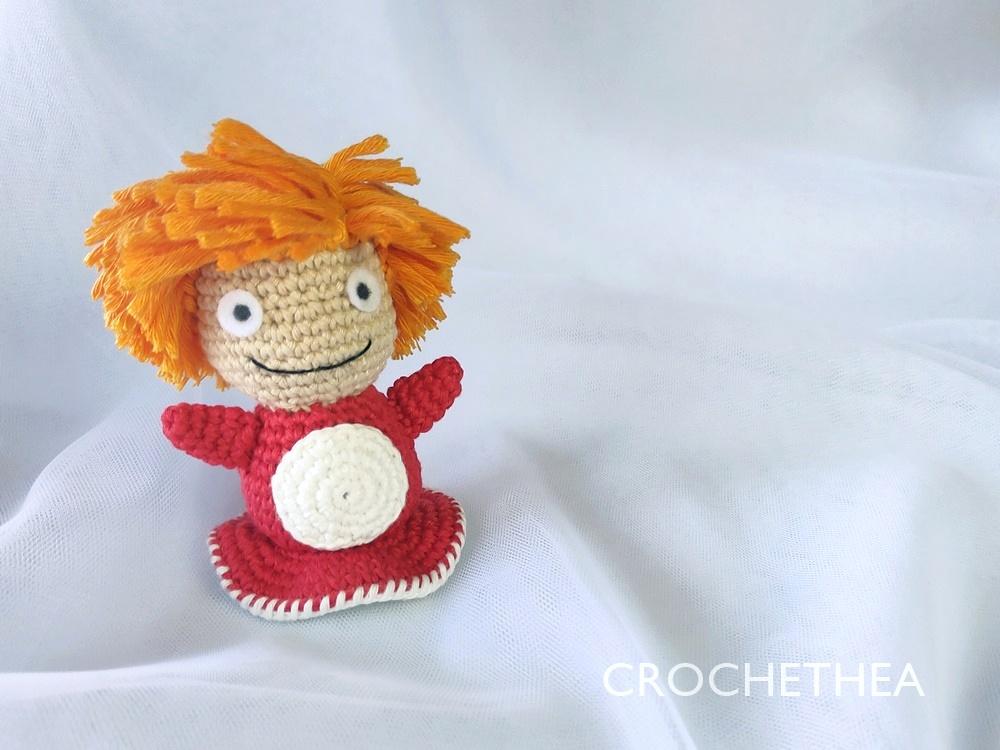 ponyo amigurumi crochet pattern