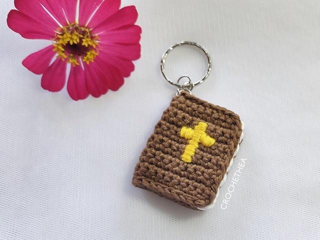 Crochet Holy Bible Keychain