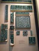 Tiles from Buyanquli Khan tomb, 1358, Uzbehkistan