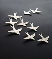 White Swallows Moroccon Wall Art