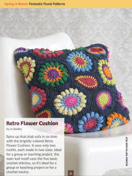 Retro Flower Cushion