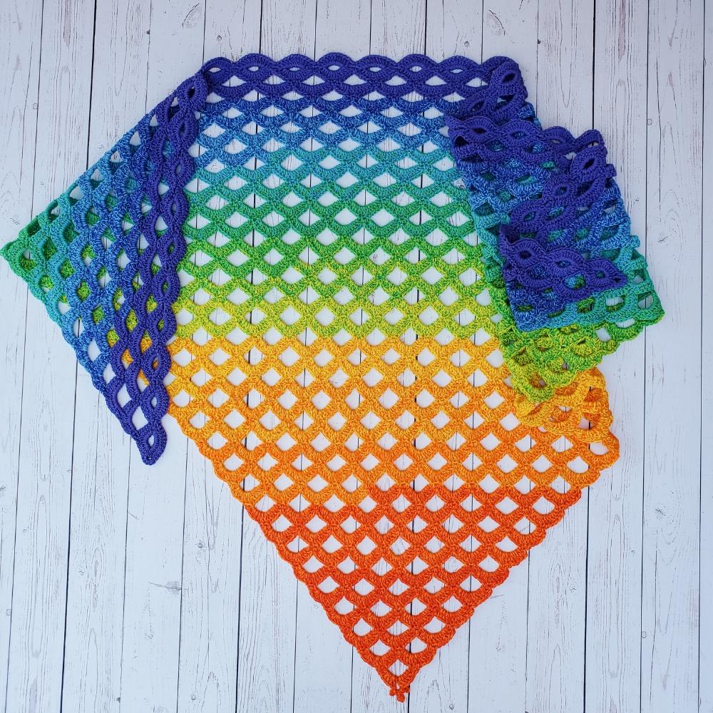 Scallop Falls Shawl by Stephanie @ Crochet Instinct