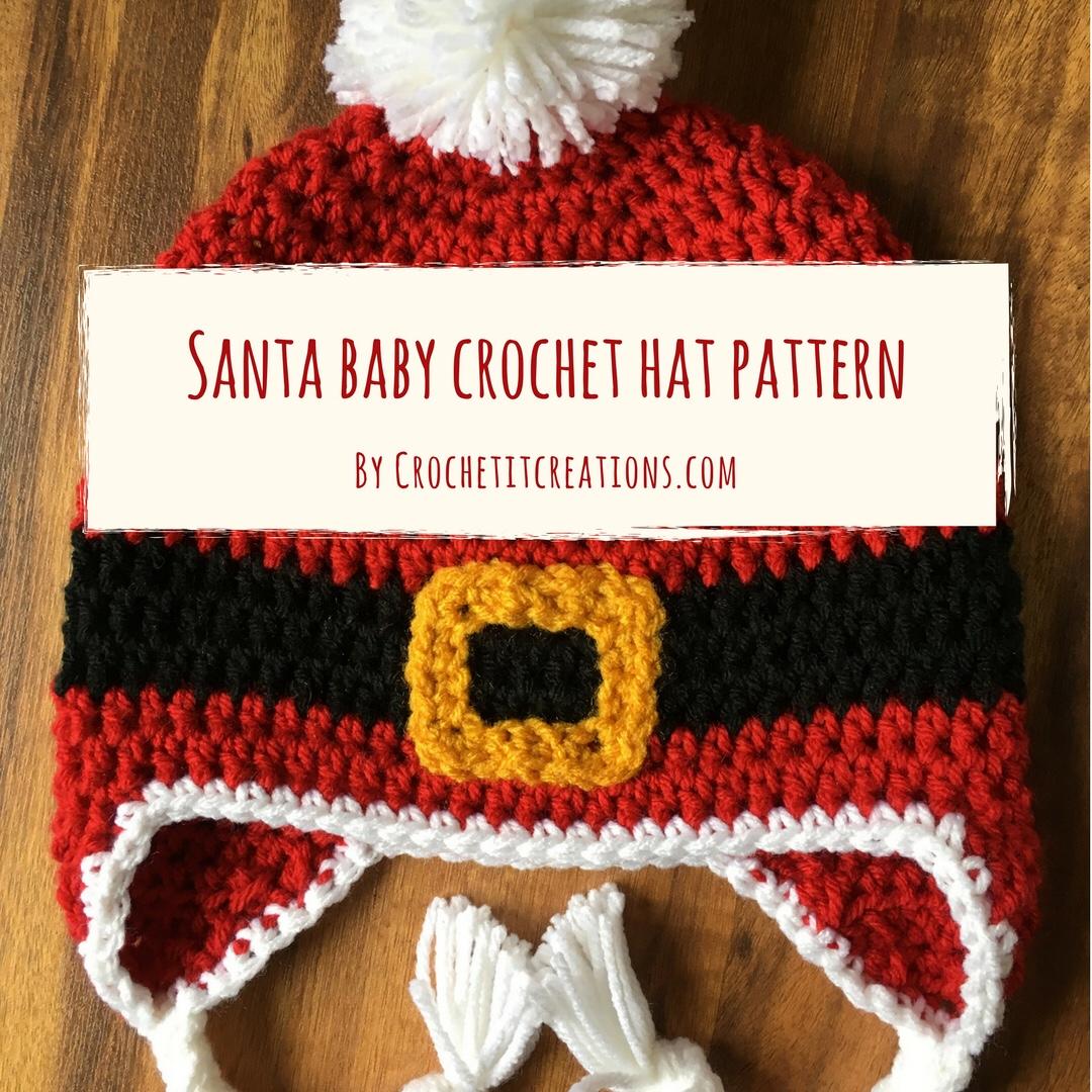 Santa Baby Hat - Crochet it Creations